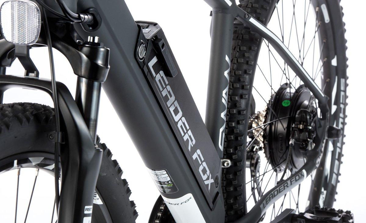 "E-Mountainbike SWAN 27,5"", Rahmen 16"", grau matt/weiß"
